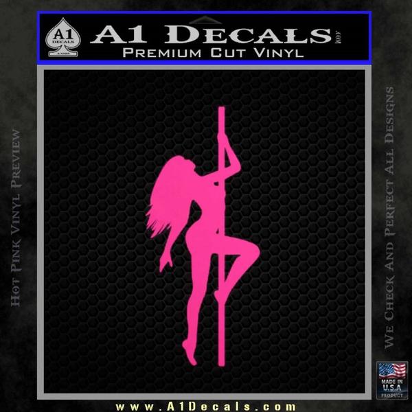 Stripper Pole Decal Sticker D1 Neon Pink Vinyl
