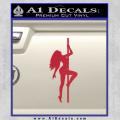 Stripper Pole Decal Sticker D1 Red Vinyl 120x120