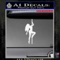 Stripper Pole Decal Sticker D1 White Vinyl 120x120