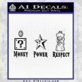 Super Mario Princess Star Money Power Respect D2 Decal Sticker Black Vinyl Black 120x120
