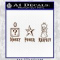 Super Mario Princess Star Money Power Respect D2 Decal Sticker Brown Vinyl Black 120x120