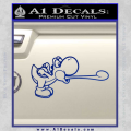 Super Mario Yoshi Tongue Decal Sticker Blue Vinyl 120x120