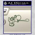 Super Mario Yoshi Tongue Decal Sticker Dark Green Vinyl 120x120