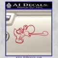 Super Mario Yoshi Tongue Decal Sticker Red Vinyl 120x120