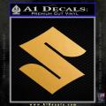 Suzuki Decal Sticker S Gold Metallic Vinyl 120x120