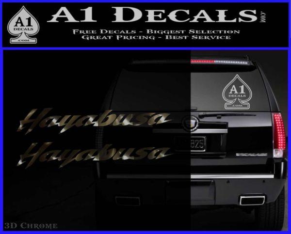 ... Suzuki Hayabusa Text Decal Sticker 3DChrome Vinyl 120x97