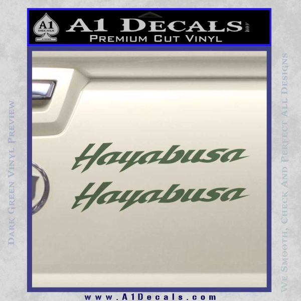 ... Suzuki Hayabusa Text Decal Sticker Dark Green Vinyl 120x120 ...