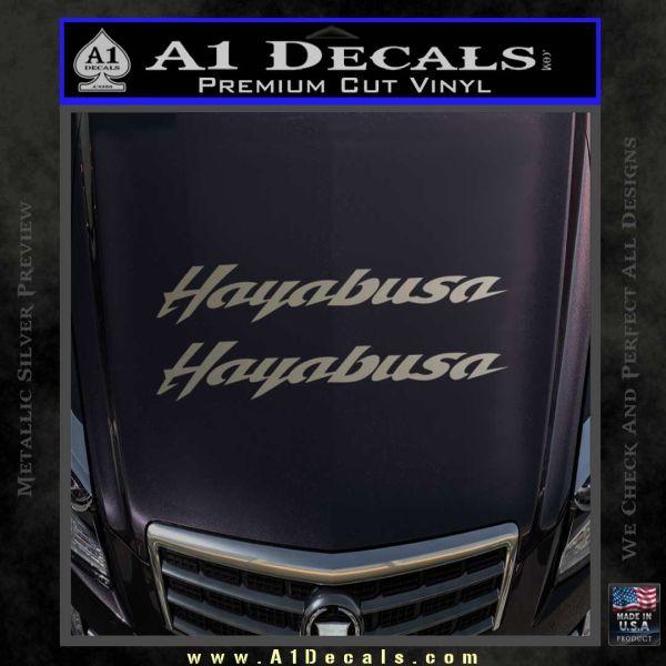 ... Suzuki Hayabusa Text Decal Sticker Metallic Silver Emblem 120x120 ...
