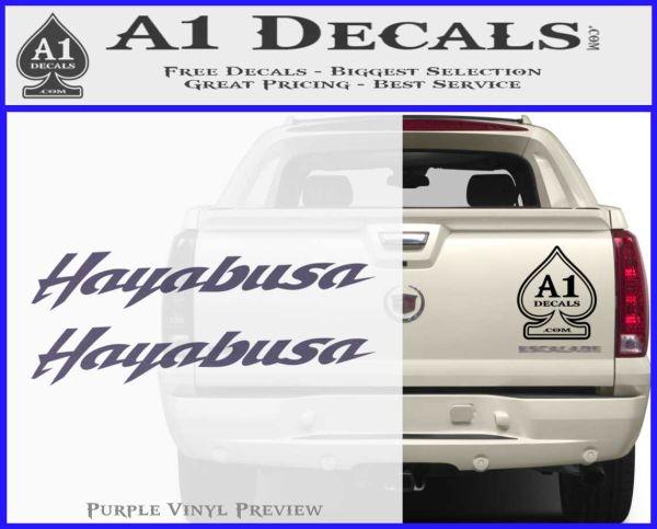 ... Suzuki Hayabusa Text Decal Sticker PurpleEmblem Logo 120x97 ...