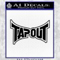Tapout Decal Sticker Black UFC Vinyl Black 120x120