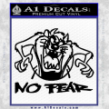 Taz No Fear Decal Sticker Black Tasmanian Devil Vinyl 120x120