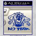 Taz No Fear Decal Sticker Tasmanian Devil Blue Vinyl 120x120