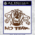 Taz No Fear Decal Sticker Tasmanian Devil Brown Vinyl 120x120