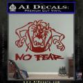 Taz No Fear Decal Sticker Tasmanian Devil DRD Vinyl 120x120