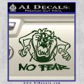 Taz No Fear Decal Sticker Tasmanian Devil Dark Green Vinyl 120x120