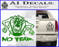 Taz No Fear Decal Sticker Tasmanian Devil Green Vinyl 120x97