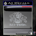 Taz No Fear Decal Sticker Tasmanian Devil Grey Vinyl 120x120