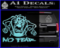 Taz No Fear Decal Sticker Tasmanian Devil Light Blue Vinyl 120x97
