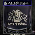 Taz No Fear Decal Sticker Tasmanian Devil Metallic Silver Vinyl 120x120