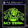 Taz No Fear Decal Sticker Tasmanian Devil Neon Green Vinyl 120x120