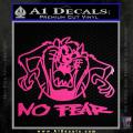Taz No Fear Decal Sticker Tasmanian Devil Neon Pink Vinyl 120x120