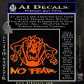 Taz No Fear Decal Sticker Tasmanian Devil Orange Emblem 120x120