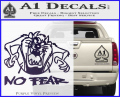 Taz No Fear Decal Sticker Tasmanian Devil Purple Vinyl 120x97