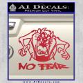 Taz No Fear Decal Sticker Tasmanian Devil Red Vinyl 120x120