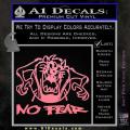 Taz No Fear Decal Sticker Tasmanian Devil Soft Pink Emblem 120x120