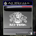 Taz No Fear Decal Sticker Tasmanian Devil White Vinyl 120x120