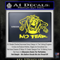 Taz No Fear Decal Sticker Tasmanian Devil Yellow Vinyl 120x120