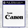 Team Canon D1 Decal Sticker Black Vinyl 120x120