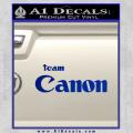 Team Canon D1 Decal Sticker Blue Vinyl 120x120