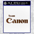 Team Canon D1 Decal Sticker Brown Vinyl 120x120