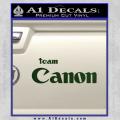 Team Canon D1 Decal Sticker Dark Green Vinyl 120x120