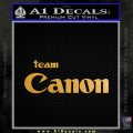 Team Canon D1 Decal Sticker Gold Metallic Vinyl 120x120
