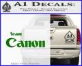 Team Canon D1 Decal Sticker Green Vinyl 120x97
