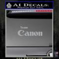Team Canon D1 Decal Sticker Grey Vinyl 120x120