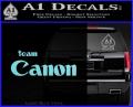 Team Canon D1 Decal Sticker Light Blue Vinyl 120x97