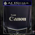 Team Canon D1 Decal Sticker Metallic Silver Vinyl 120x120
