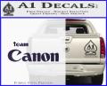 Team Canon D1 Decal Sticker Purple Vinyl 120x97