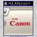 Team Canon D1 Decal Sticker Red Vinyl 120x120