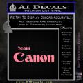 Team Canon D1 Decal Sticker Soft Pink Emblem 120x120