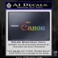 Team Canon D1 Decal Sticker Spectrum Vinyl 120x120