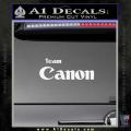 Team Canon D1 Decal Sticker White Vinyl 120x120