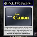 Team Canon D1 Decal Sticker Yellow Vinyl 120x120