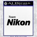 Team Nikon D1 Decal Sticker Black Vinyl 120x120