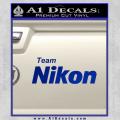Team Nikon D1 Decal Sticker Blue Vinyl 120x120