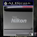 Team Nikon D1 Decal Sticker Grey Vinyl 120x120