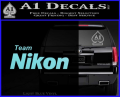 Team Nikon D1 Decal Sticker Light Blue Vinyl 120x97